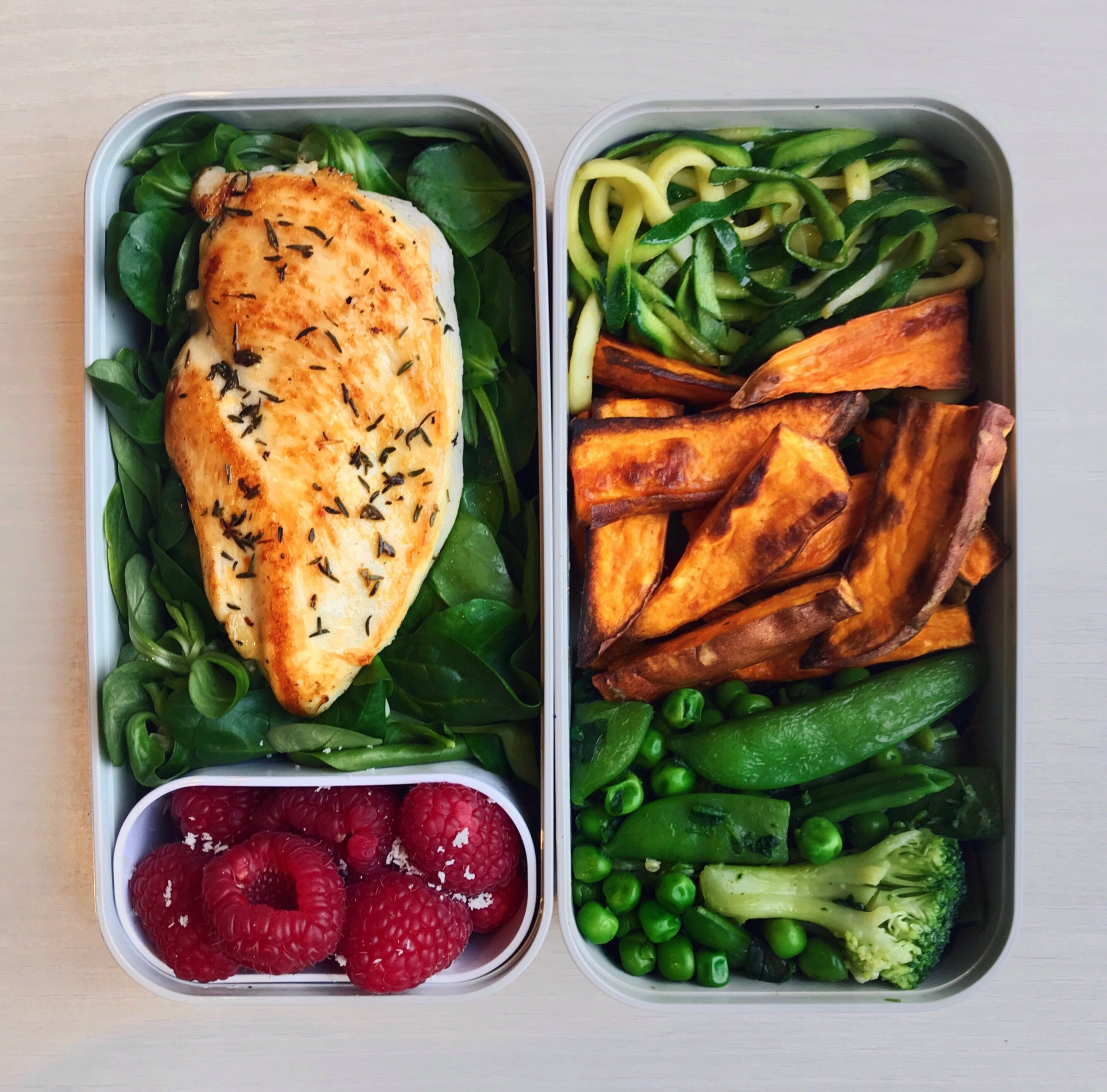 Grilled Chicken & Sweet Potatoes
