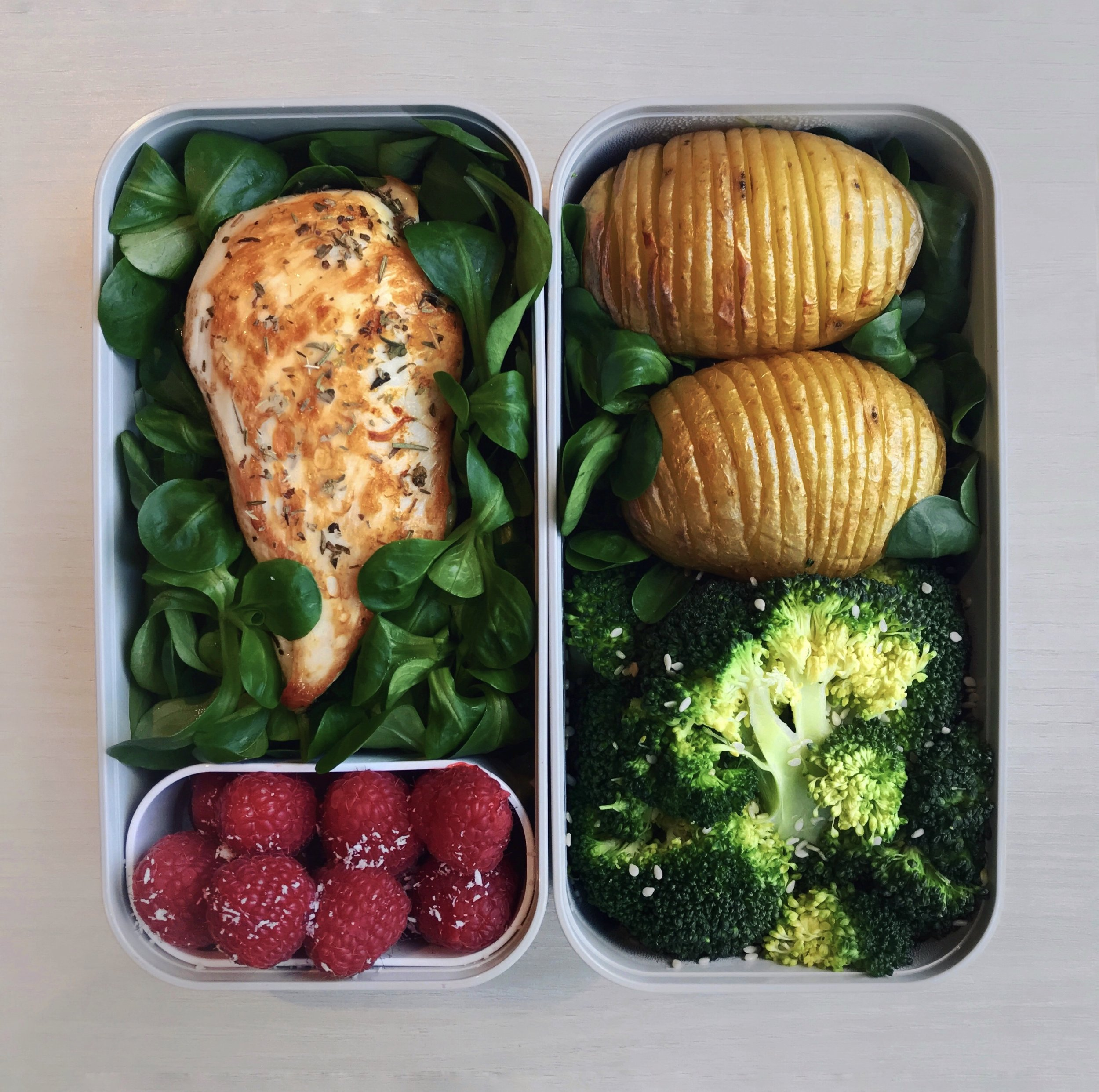 Grilled Chicken & Hasselback Potatoes