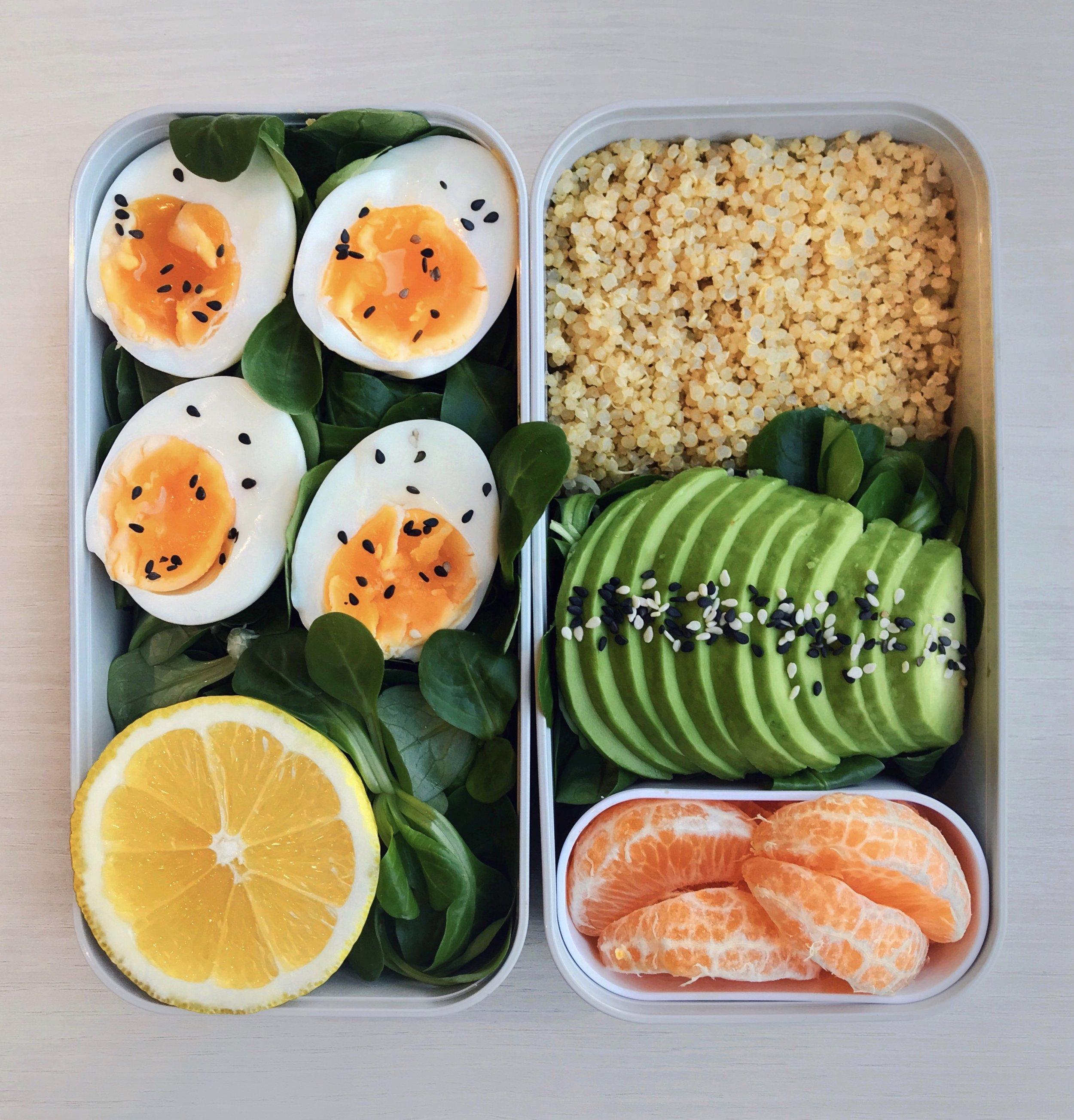 Soft-boiled Eggs, Quinoa & Avocado