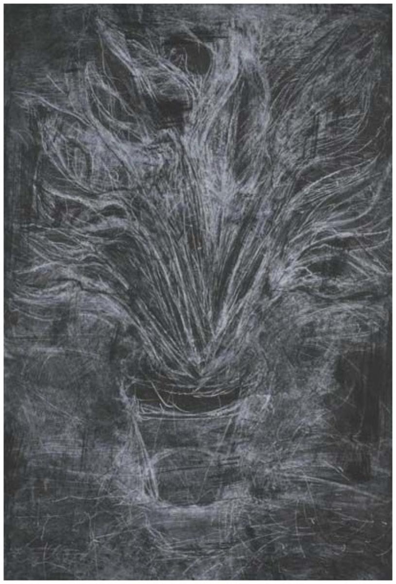 "Jim Dine, WHITE STRELITZIA, 1980 [D&F 78], etching, 44"" x 30"" ed: 18"