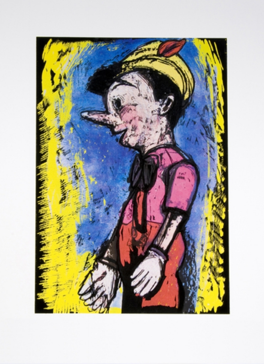 "Jim Dine, LINCOLN CENTER PINOCCHIO, 2008, screenprint and woodcut, 37.5"" x 27"" ed: 118"