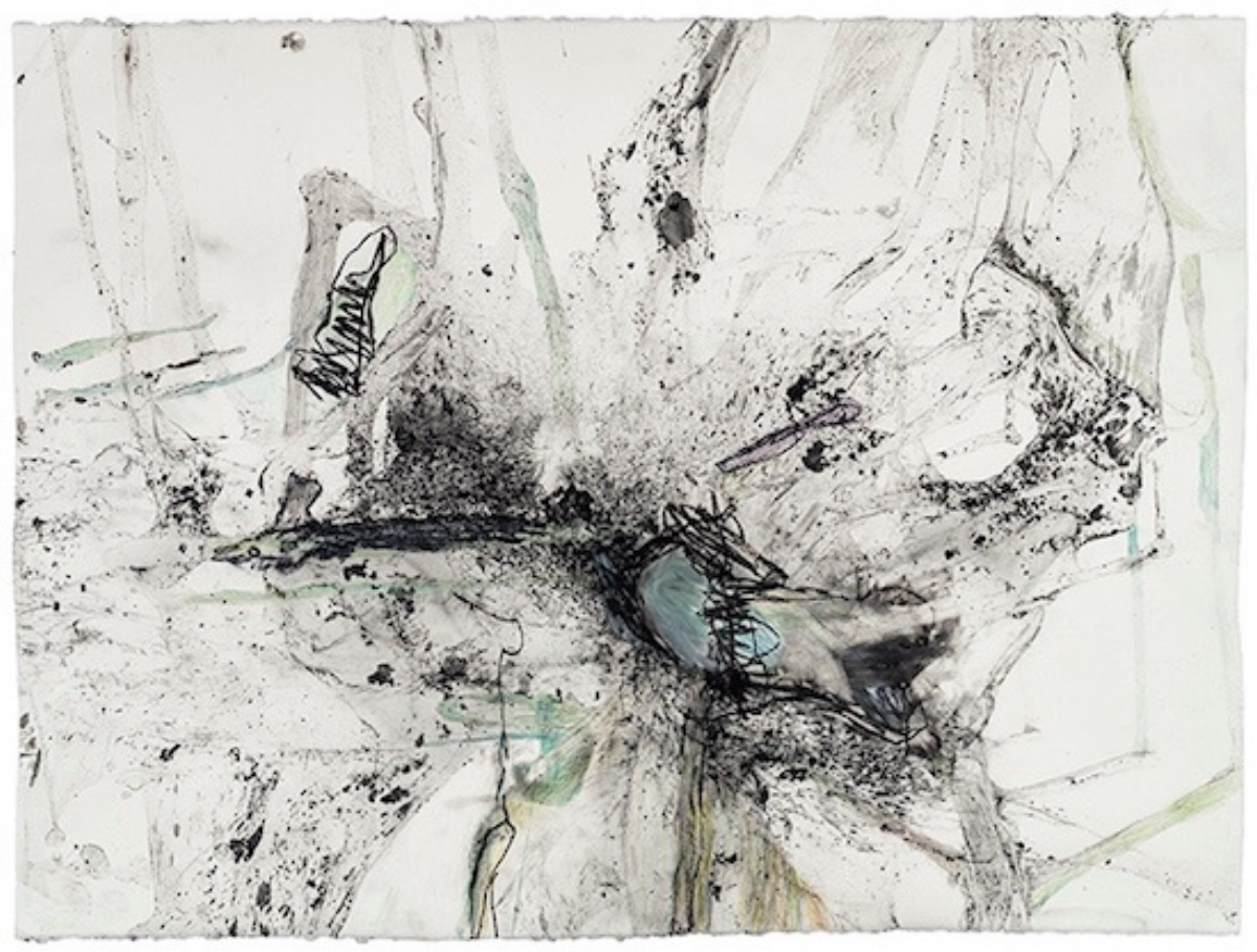 """Cora Cohen, UNTITLED 7-14, 2014, charcoal, colored pencil and graphite on paper, 22"""" x 29.75"""""""