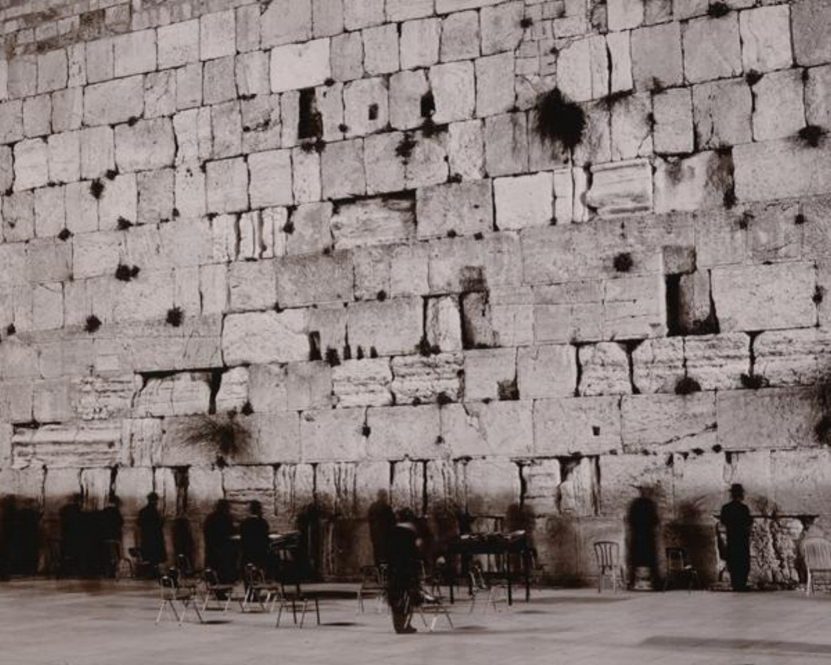 "Linda Connor, MIDNIGHT AT THE WAILING WALL, JERUSALEM, ISREAL, 1995, archival pigment print, 17"" x 22"" ed: 15"