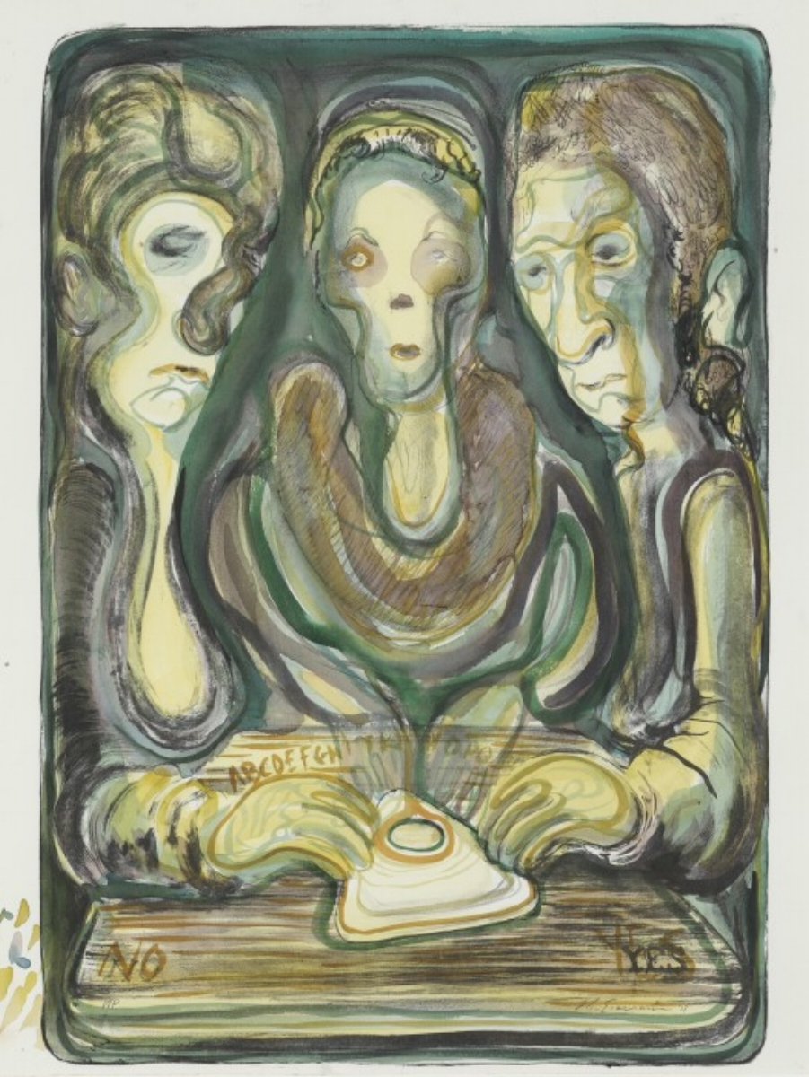 """Nicole Eisenman, OUIJA, 2012, lithograph, 37.5"""" x 27.25"""" ed: 25"""