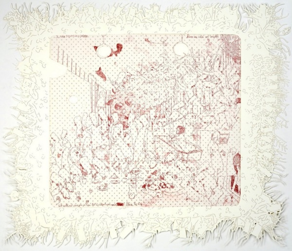 """Dasha Shiskin, I WANNA BE WELL II (DREAMS ARE SOLID AND TANGIBLE), 2007-2008, intaglio and engraving, 22"""" x 26"""" ed: 15"""