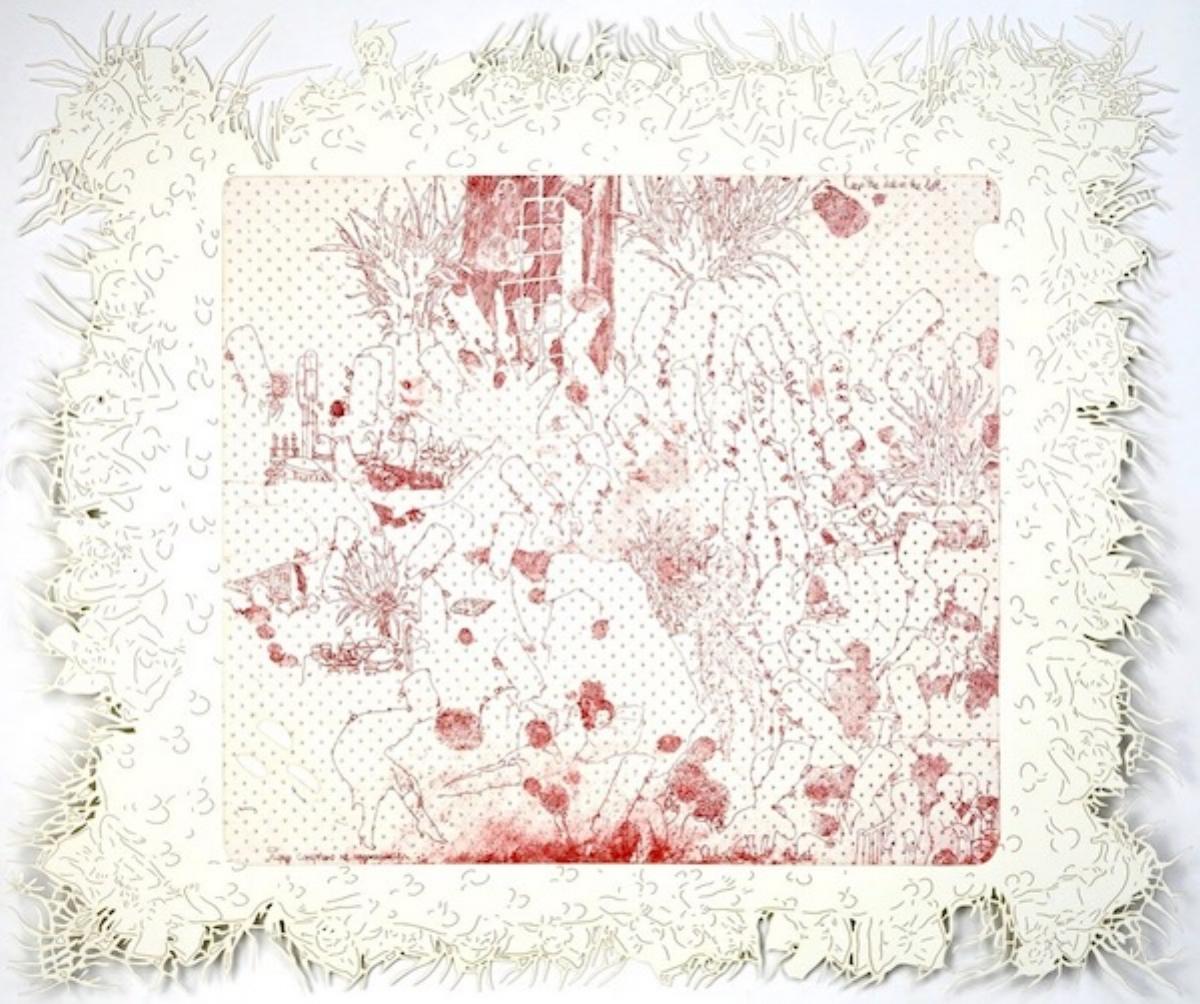 "Dasha Shiskin, I WANNA BE WELL III (KEEP THE SICK ON THE LEFT), 2007-2008, intaglio and engraving, 22"" x 26"" ed: 15"
