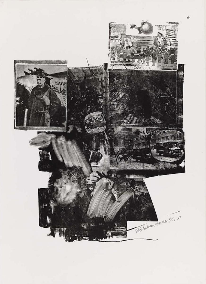 "Robert Rauschenberg, TEST STONE #2, 1967, lithograph, 41"" x 30"" ed: 76"