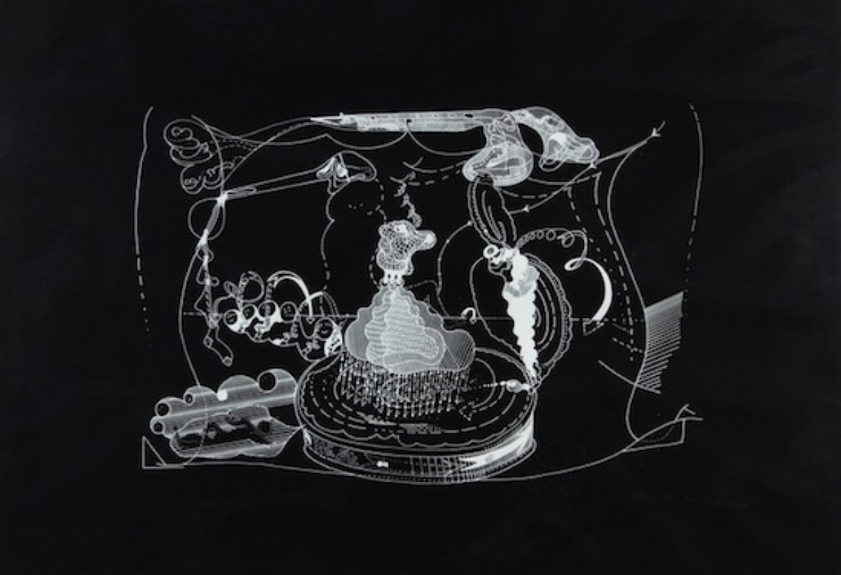 "Dieter Roth, IM WESTEN, 1971 [Dobke 191], screenprint, 27.5"" x 39.5"" ed: 100"