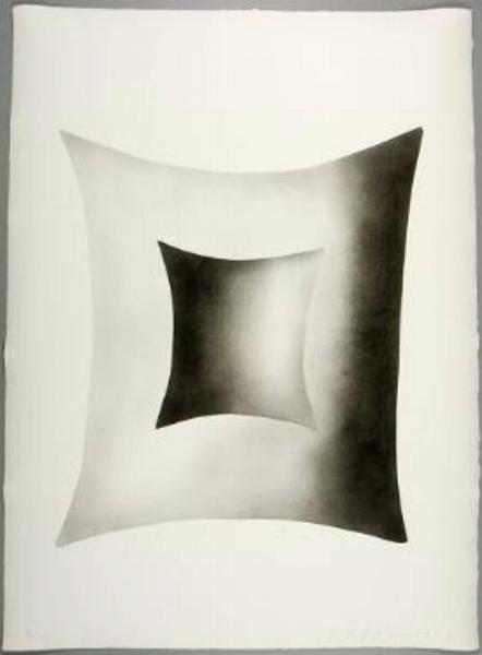 """James Nares, DREAM SUITE, 1990, four of five pochoir prints, 30"""" x 22"""" ed: 10"""