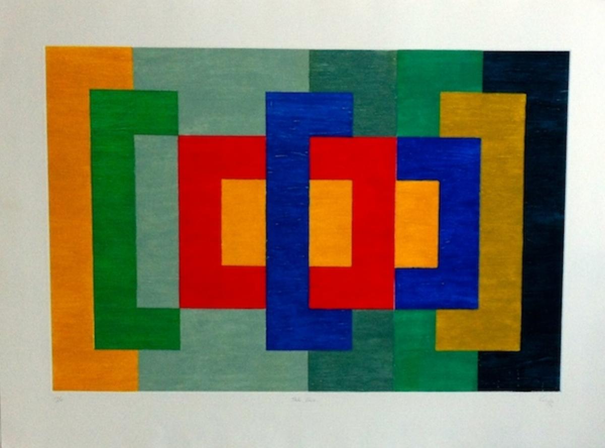 "Vincent Longo, TAKE TWO, 1992, carborundum, 27.5"" x 33"" ed: 10"