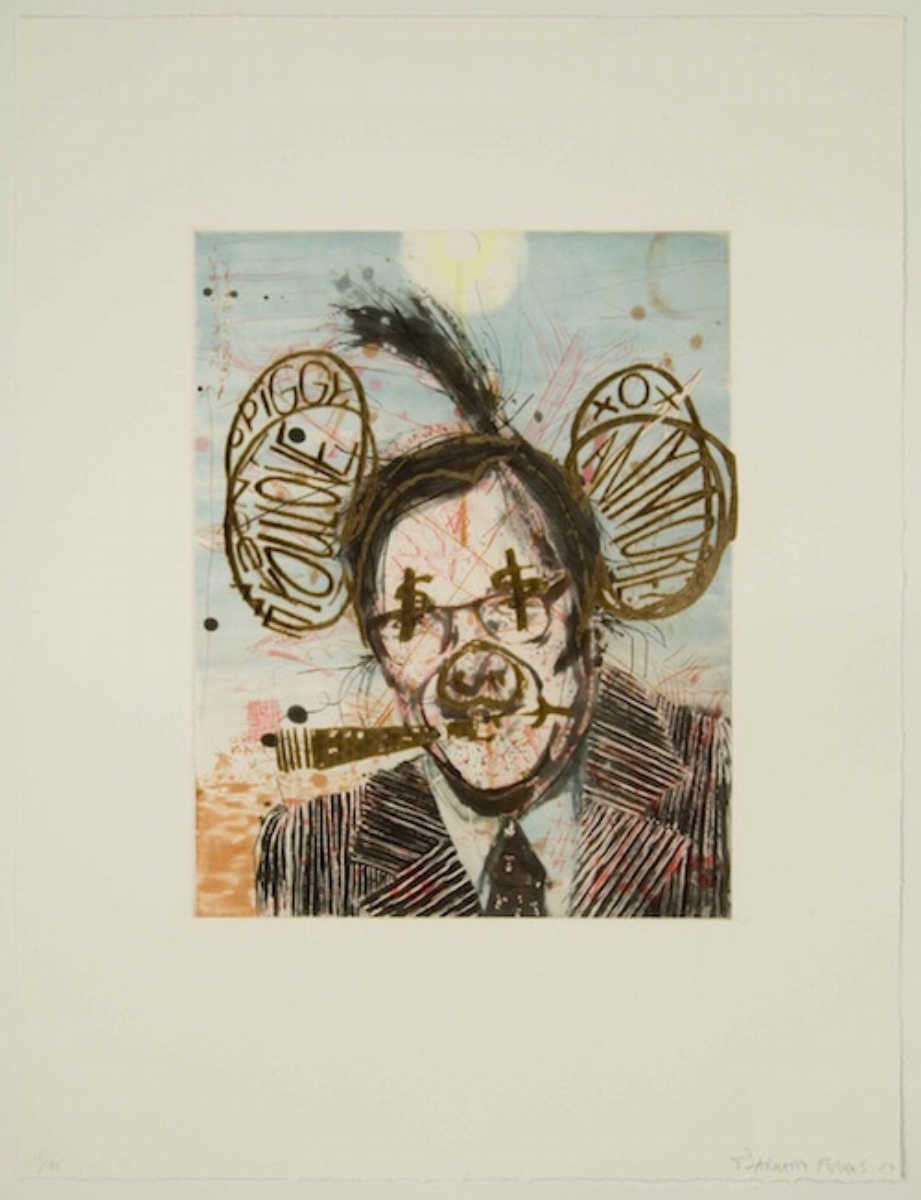"""Barnaby Furnas, EFFIGY (DON'T YOU LOVE ME ANYMORE), 2007, etching with laser engraving, 26.75"""" x 20.5"""" ed: 20"""