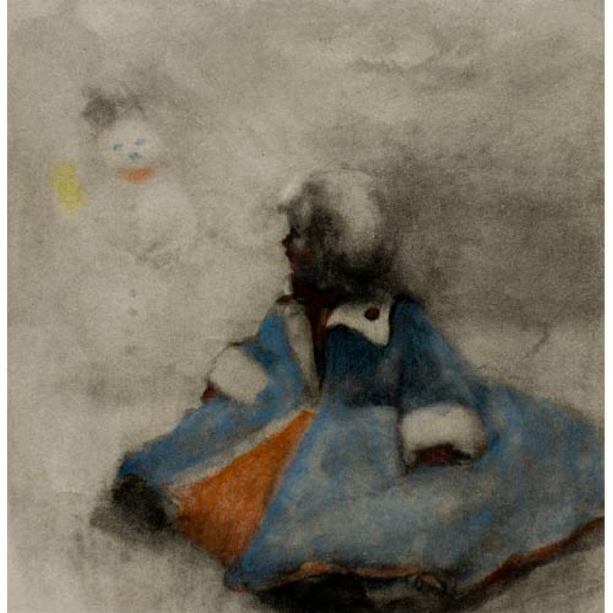"Ellen Phelan, A DOLL, HER STORY (TRAVELING COSTUME), 1995, portfolio of eight photogravures with hand coloring, 13"" x 16"" ed: 28"
