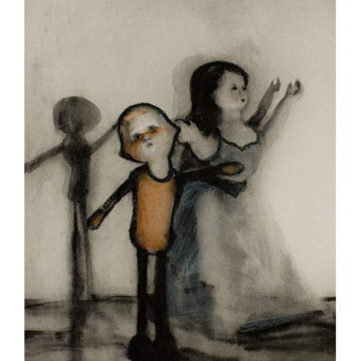 "Ellen Phelan, A DOLL, HER STORY (APPLAUSE), 1995, portfolio of eight photogravures with hand coloring, 13"" x 16"" ed: 28"