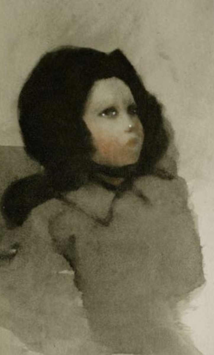 "Ellen Phelan, A DOLL, HER STORY (PORTRAIT HEAD), 1995, portfolio of eight photogravures with hand coloring, 13"" x 16"" ed: 28"