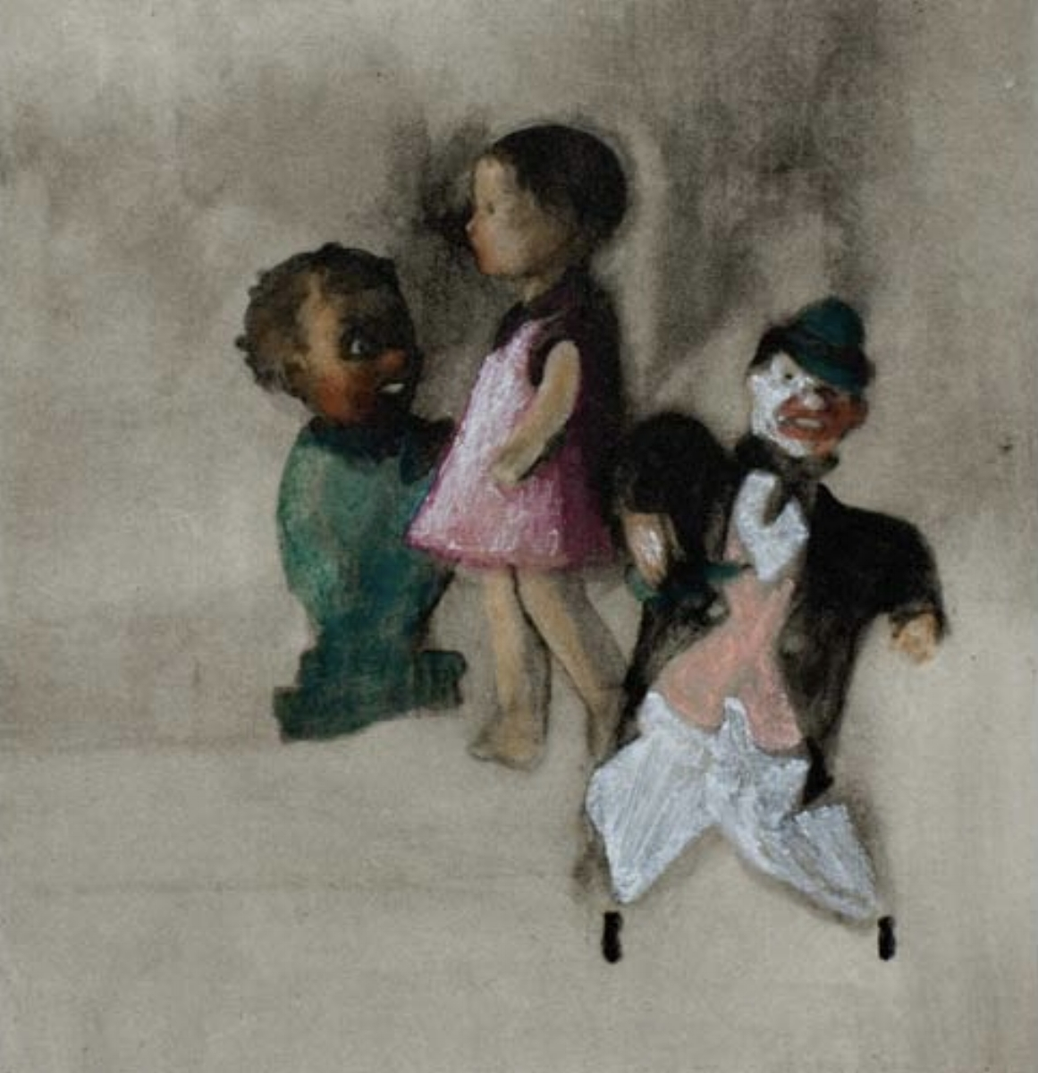 "Ellen Phelan, A DOLL, HER STORY (THE REHEARSAL), 1995, portfolio of eight photogravures with hand coloring, 13"" x 16"" ed: 28"