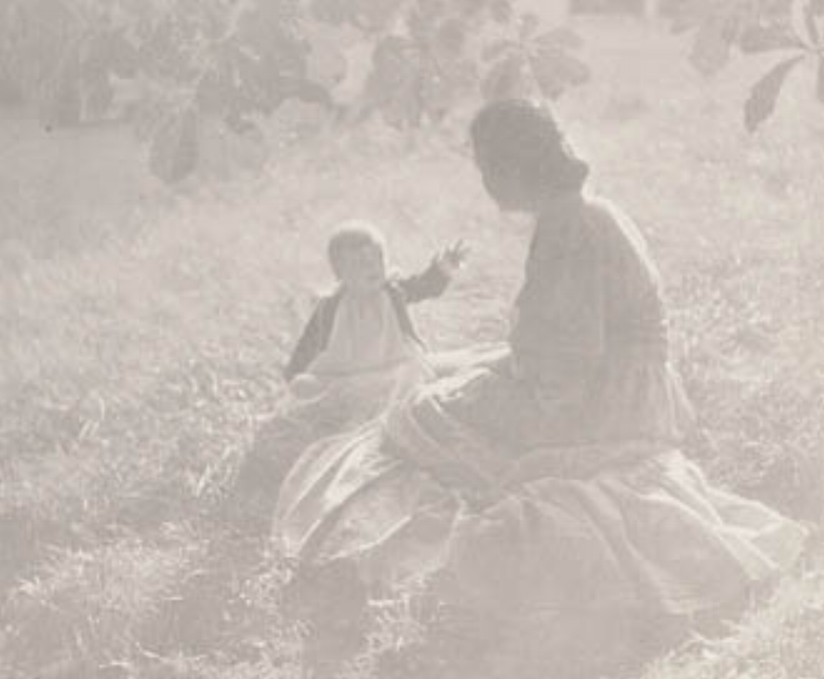 "Edward Steichen, MOTHER AND CHILD - SUNLIGHT, 1906 [Camera Work XIV], photogravure, 5"" x 6.25"""