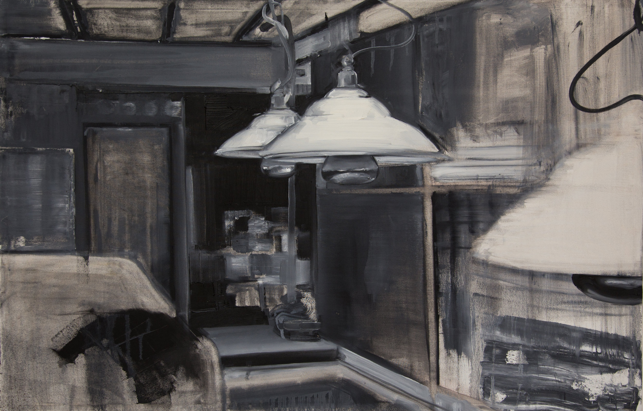 12 Lamps, oil on canvas, 74x115cm.jpg