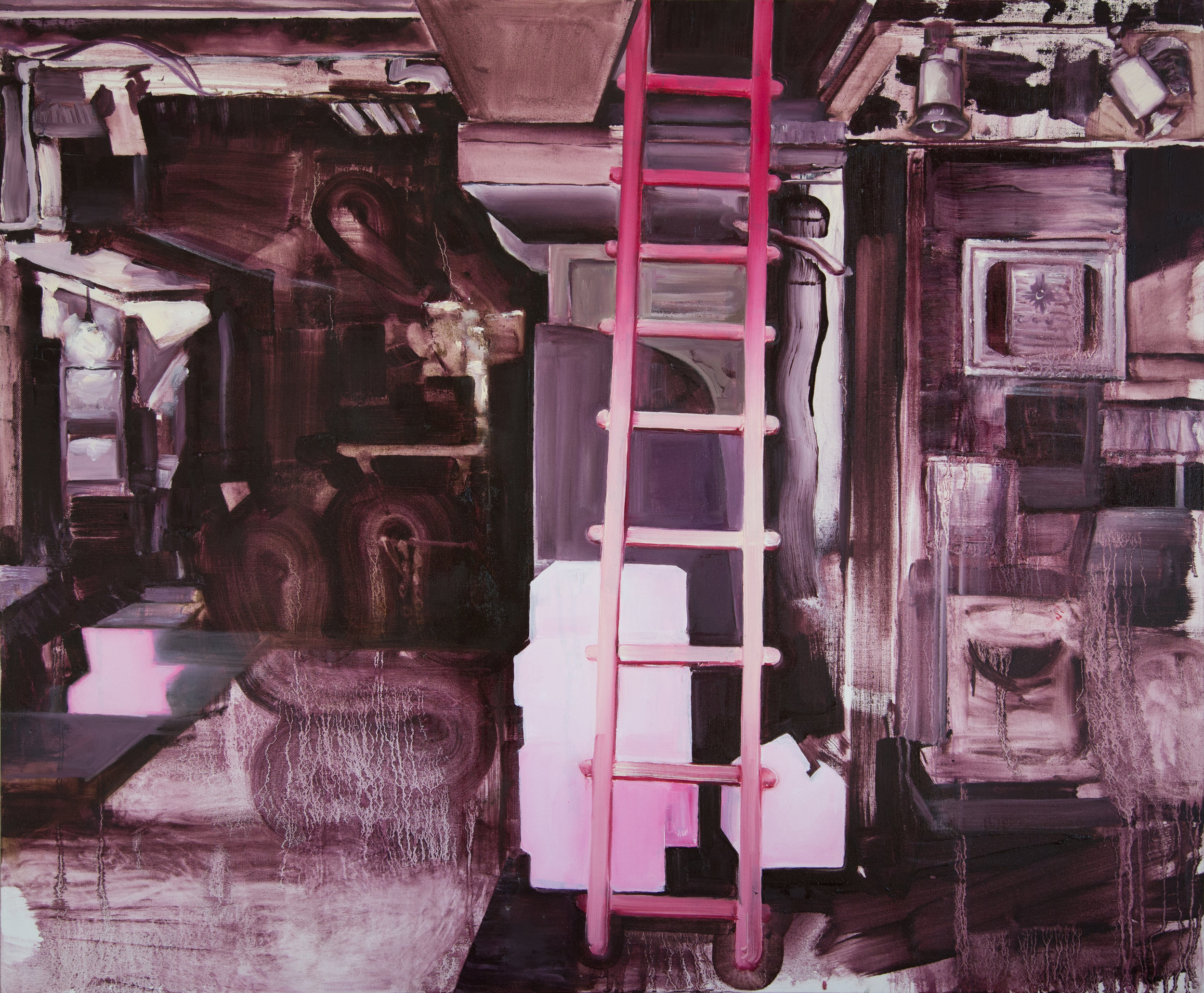 14 Ladder, oil on canvas, 83x100cm.jpg
