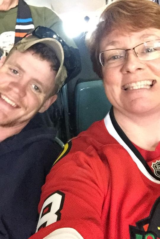 Today on Facebook, I shared a post from the Facebook page  Stop Soldier Suicide in honor of my friend's son, Josh Fetter, who ended his life in December. Pictured above are Josh and his mom, Kris. Ms.Kris was one of Rader's upper elementary teachers at Montessori.