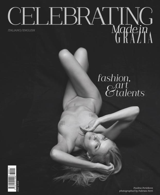Paulina Porizkova for Grazia Magazine, 80th Anniversary Special Edition.