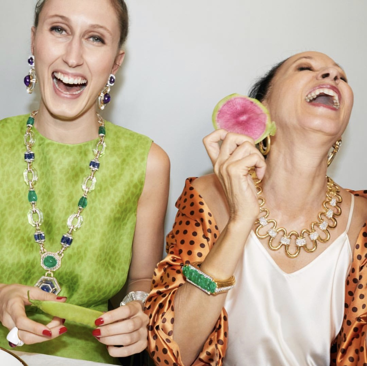 Pat Cleveland for David Webb Jewelers. Shot by Juergen Teller.