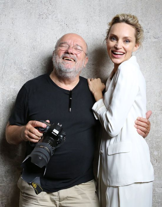 Inna and Peter Lindbergh, beyond the scenes for The Heart Fund awareness campaign.