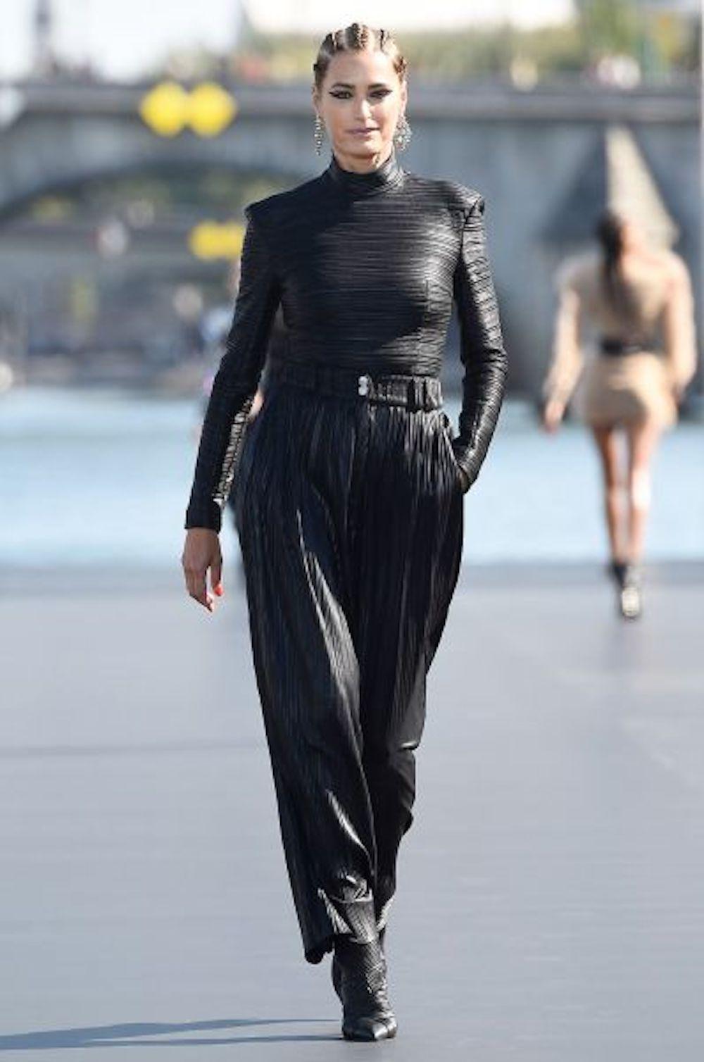 In Balmain for L'Oreal. Paris RTW Fashion Week, 2019.