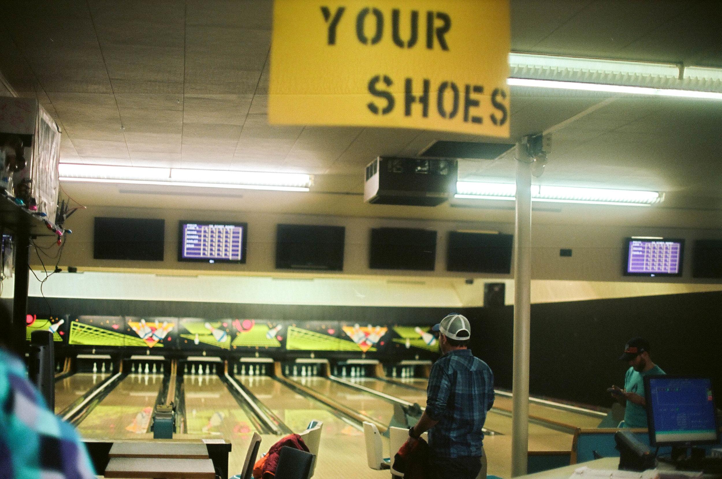 Terrace bowling alley