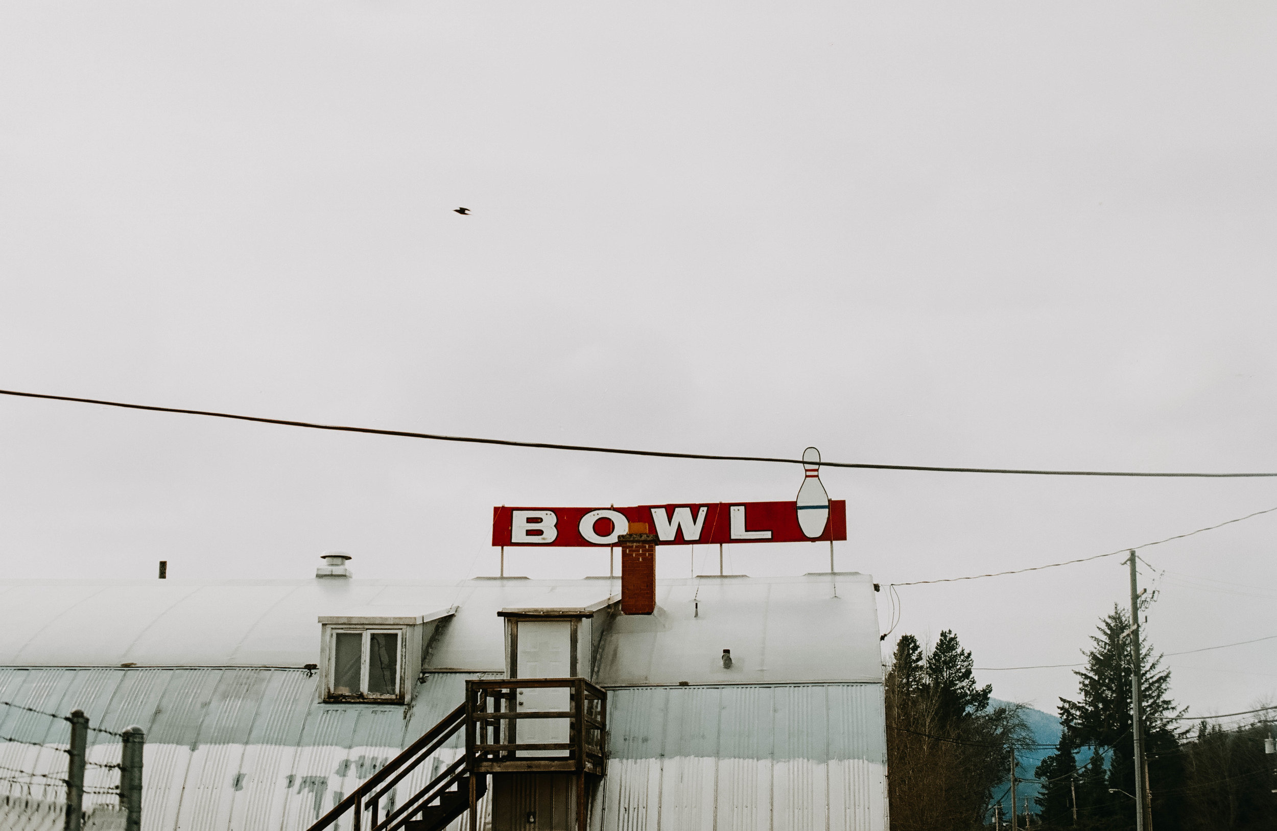 Quonset hut bowling alley, Terrace.