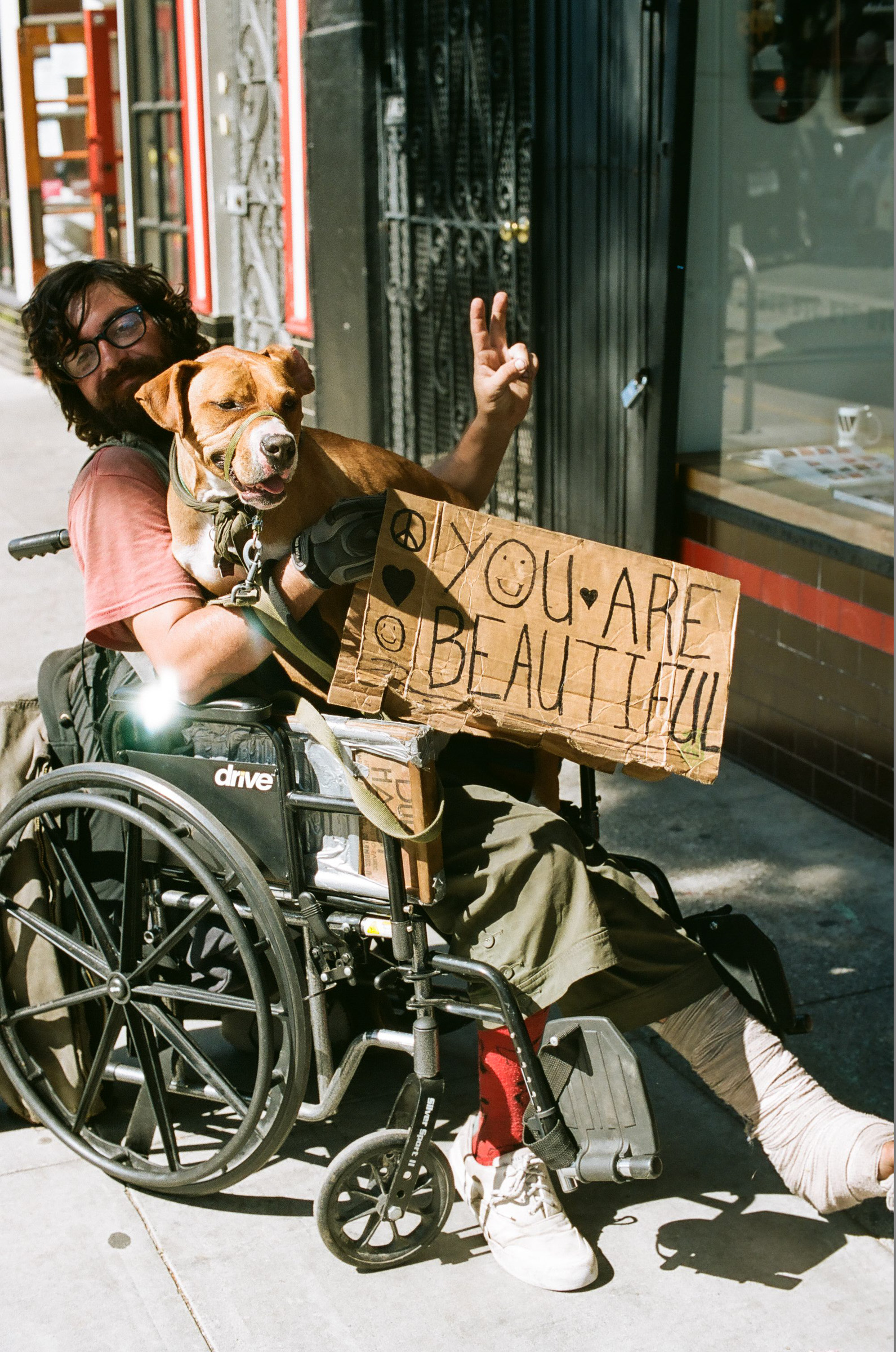 Street folks and their dogs…..