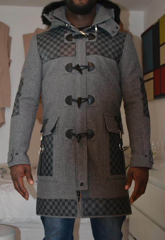 Nyheke Lambert x Jemima Racheal x Louis Vuitton - Bespoke duffer made from a deconstructed Louis Vuitton holdall