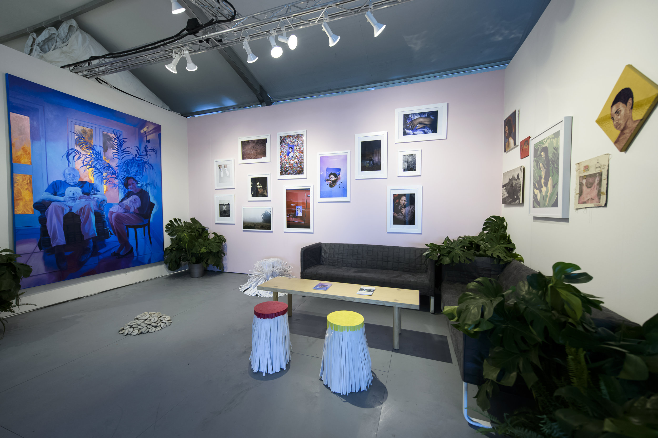 YoungArts Alumni booth PULSE Miami Beach 2017 curated by Helen Toomer, photograph courtesy of Jason Koerner