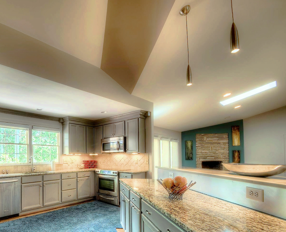 Angled Ceiling Design Kitchen Design