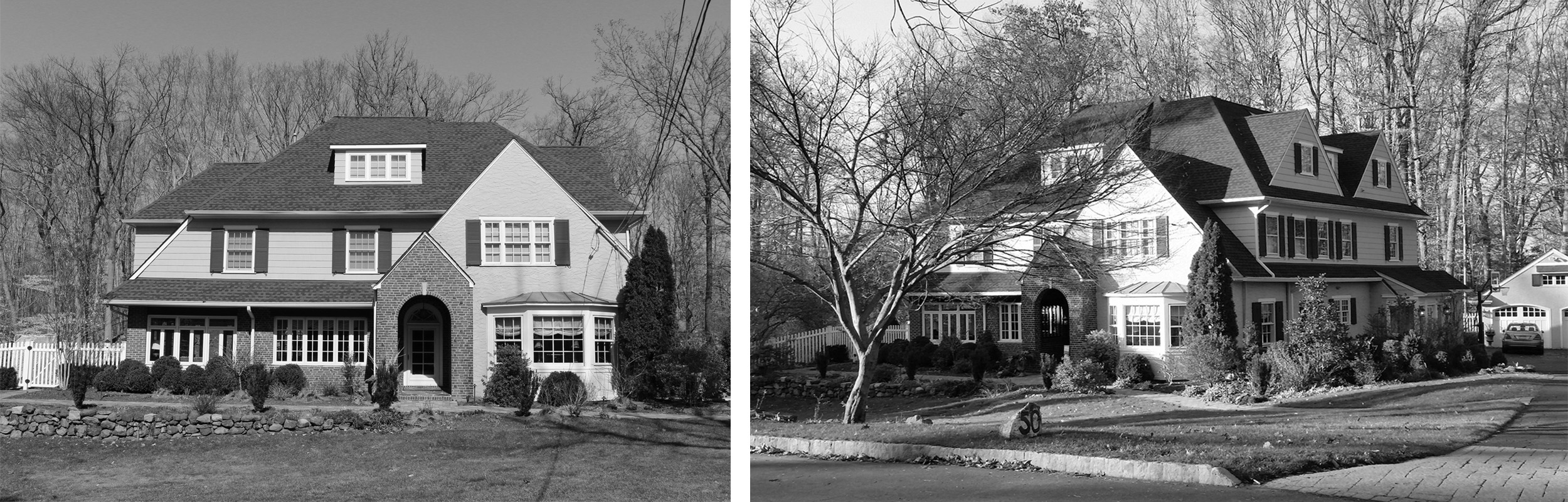 Before: Front of house and front elevation.