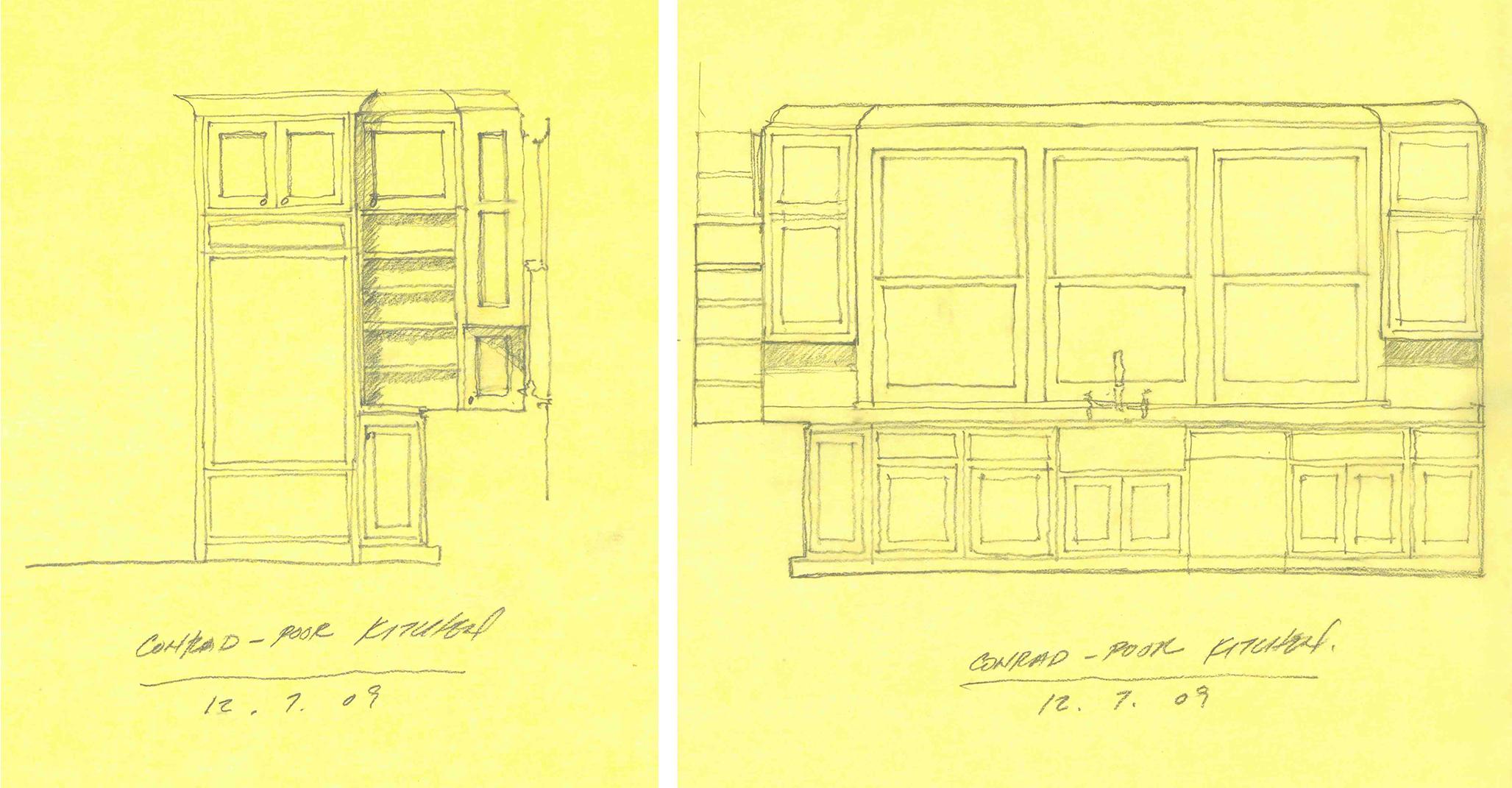 Schematic Design Sketches by Marvin Clawson