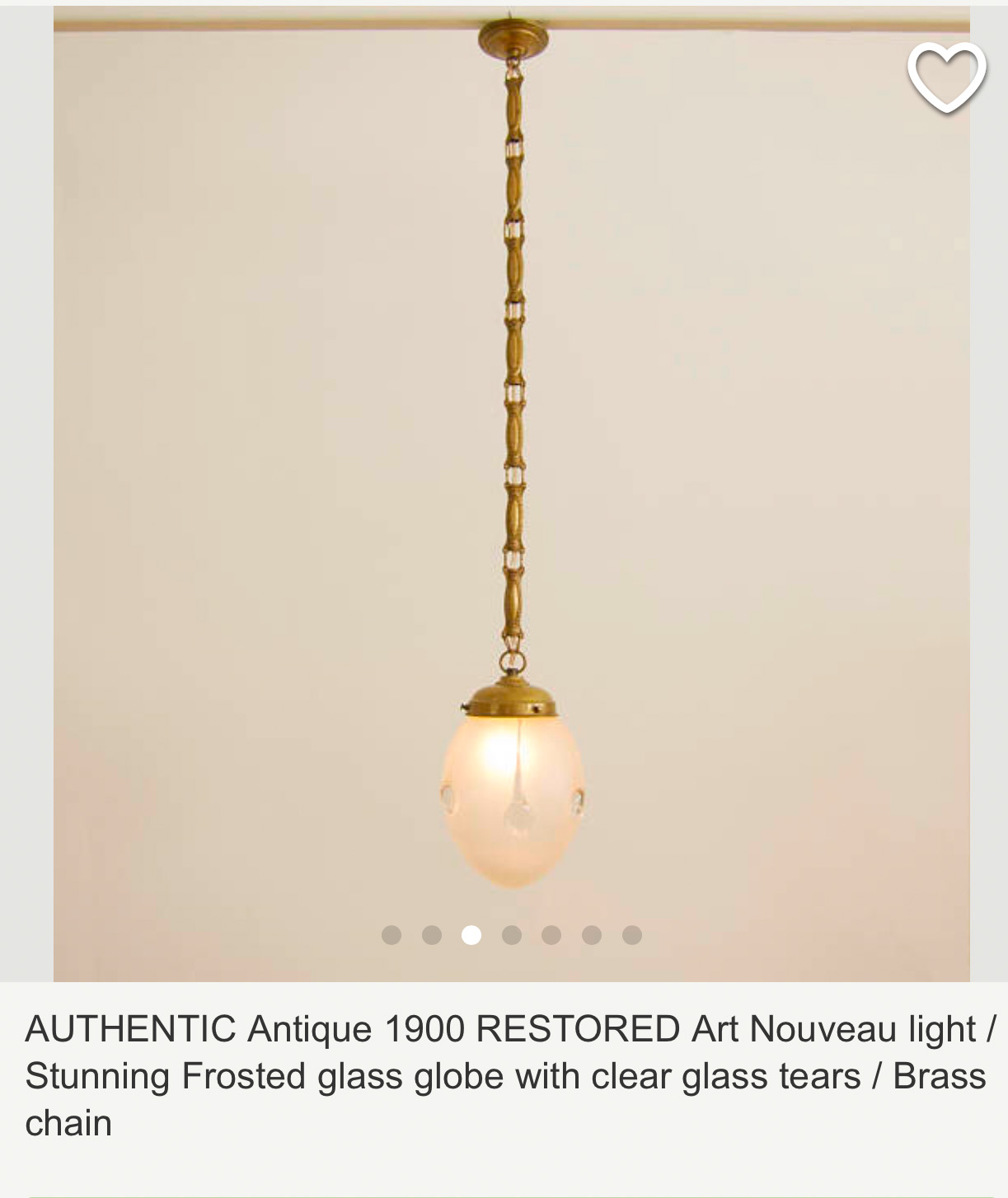 Light for my powder room...will need rewired when it arrives...