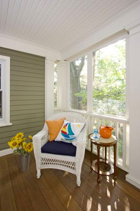 Porches act as an additional room.