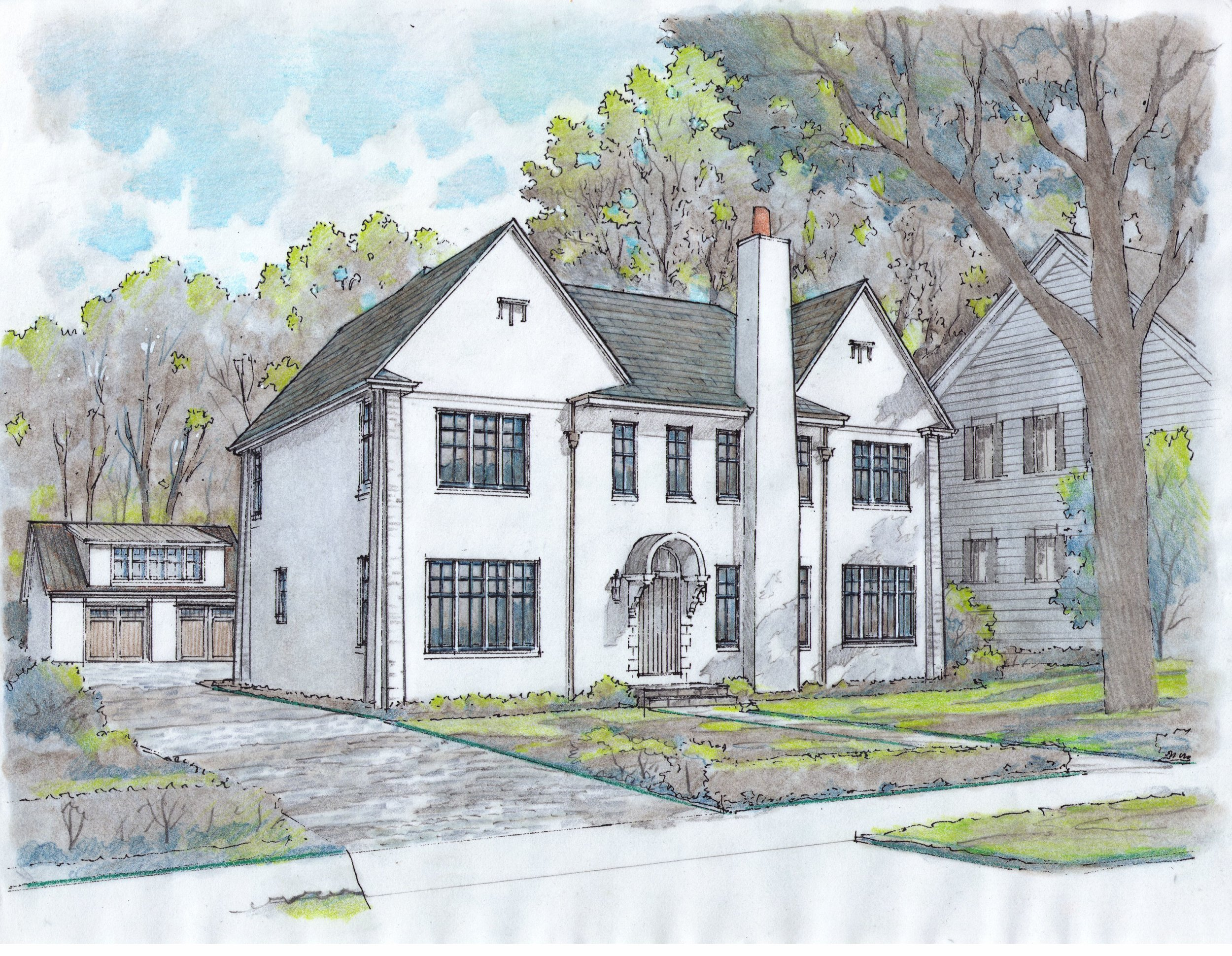 New home construction on Maplewood Avenue, in Maplewood, New Jersey now completed.