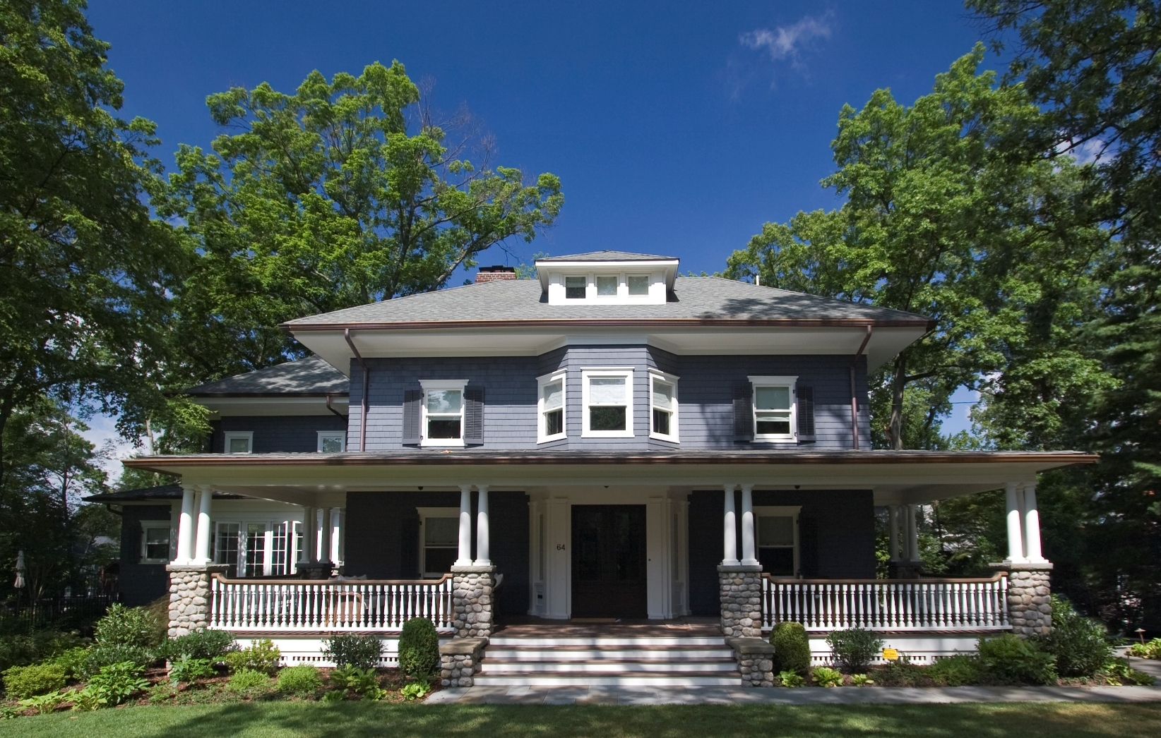 The quintessential wrap around porch in Historical downtown Ridgewood, NJ to see the before images and what a difference details  click here