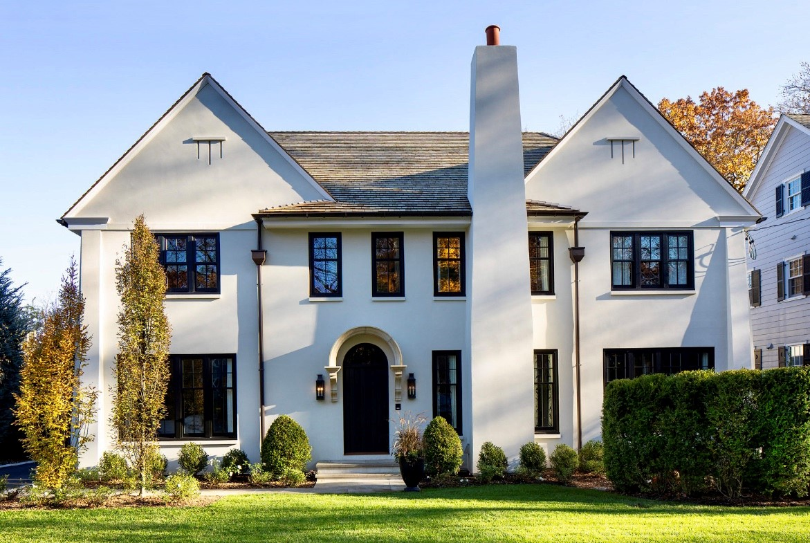 """""""Elegant Infill"""" was the name of the 2019 Winning Submiossion for the AIA Medal for Design Excellence. New Home Construction, Maplewood, NJ"""