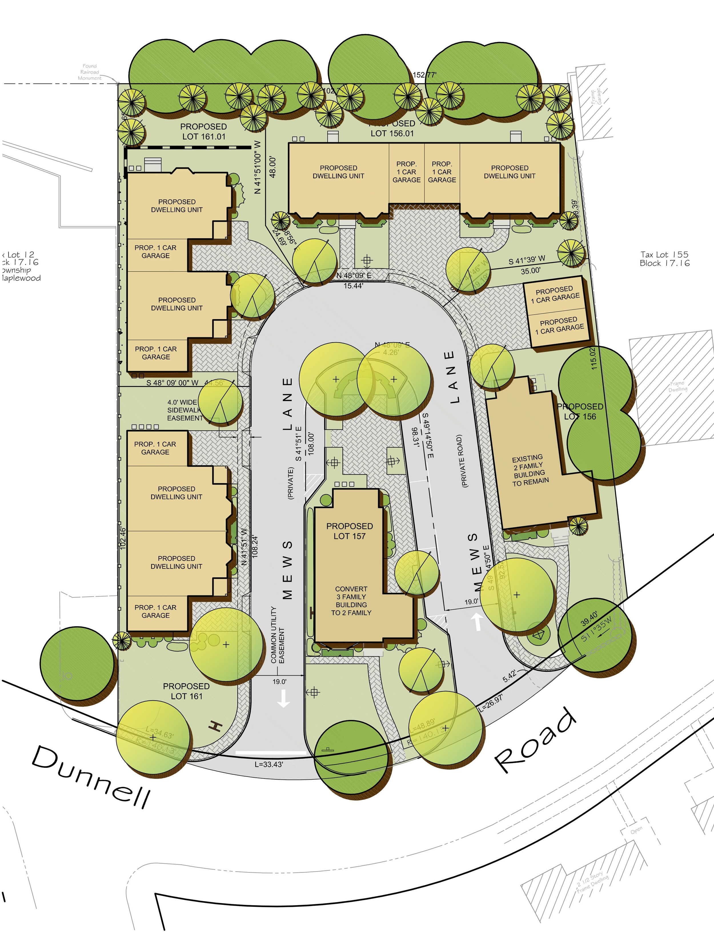 Proposed Townhouse Development — 19 Variances sought and approved.