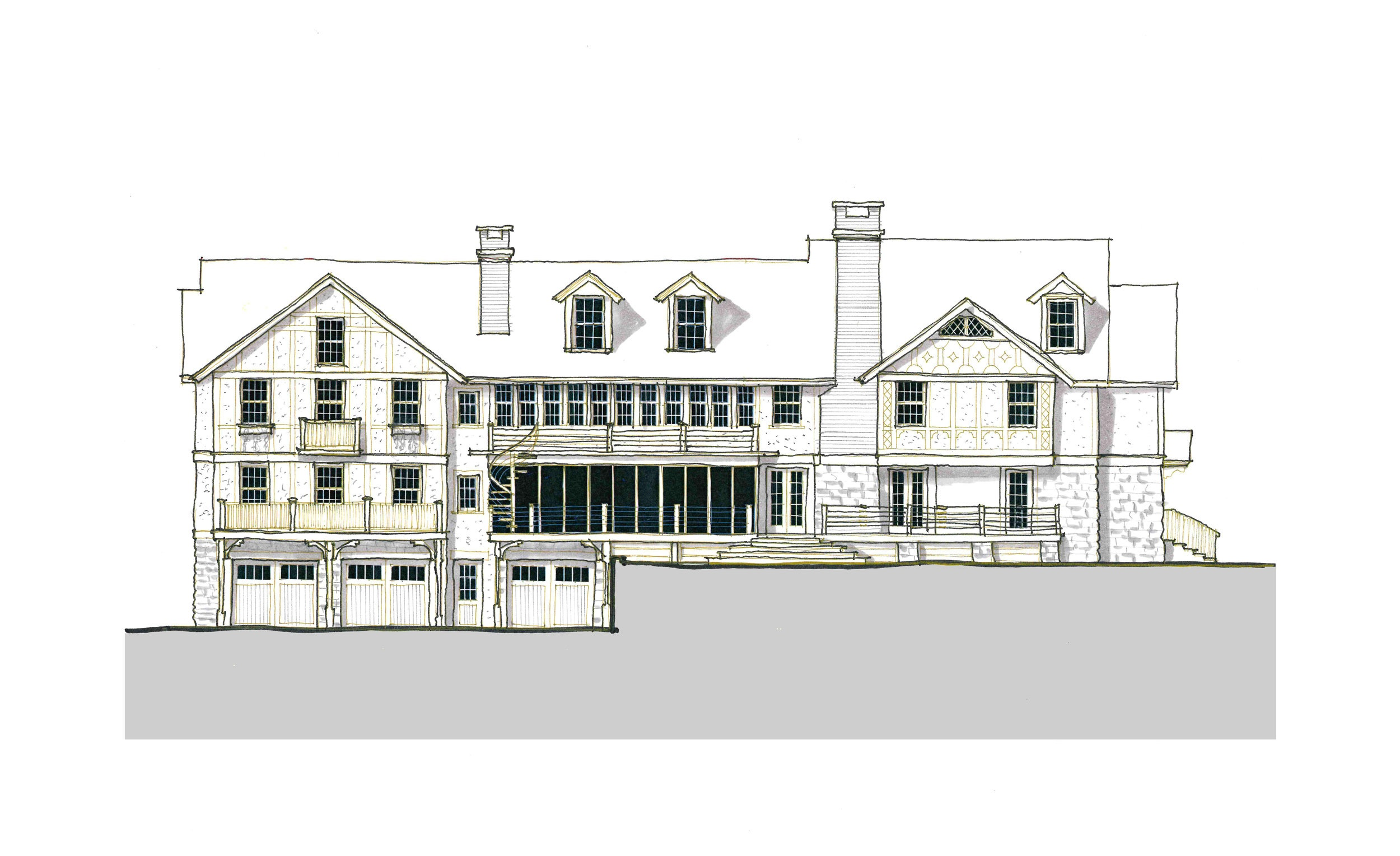 Option A- Rear Facade of a proposed addition