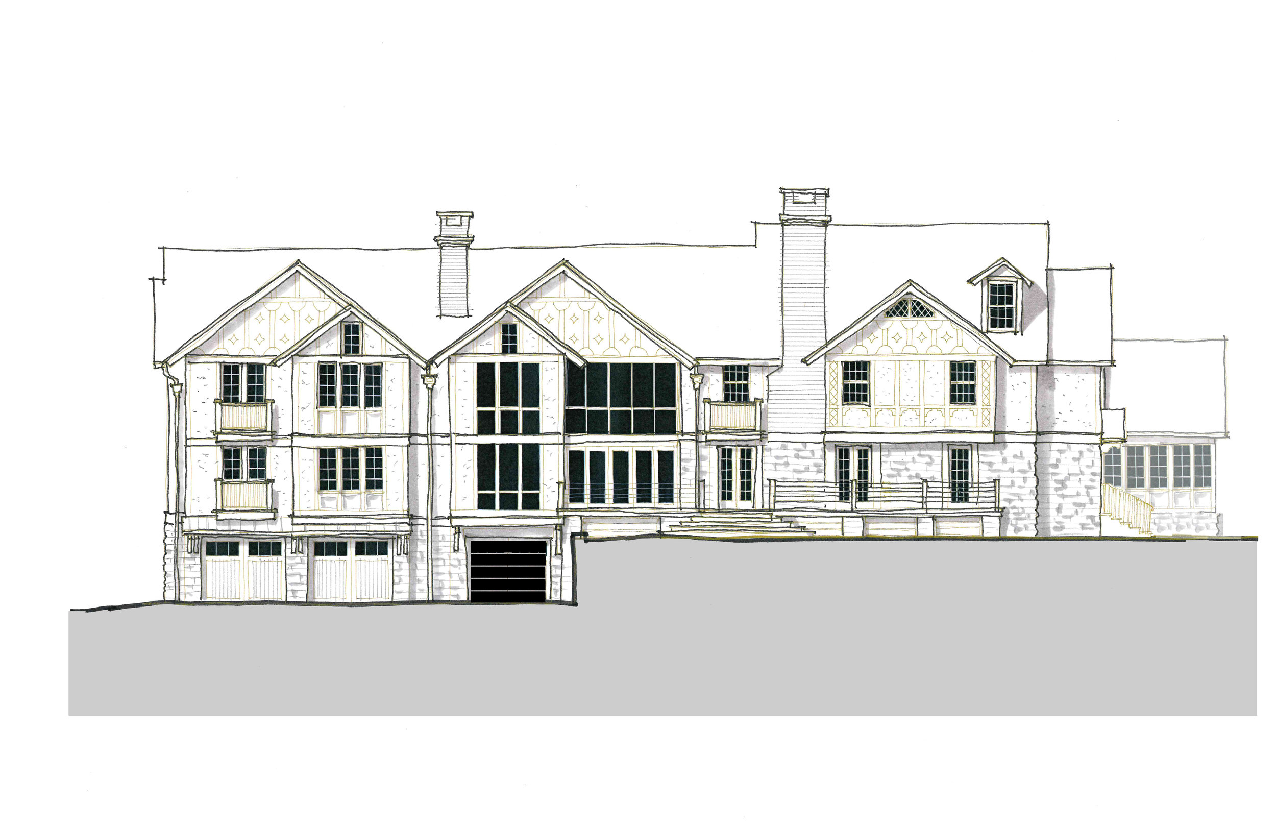 Option B — Rear Facade of a proposed addition