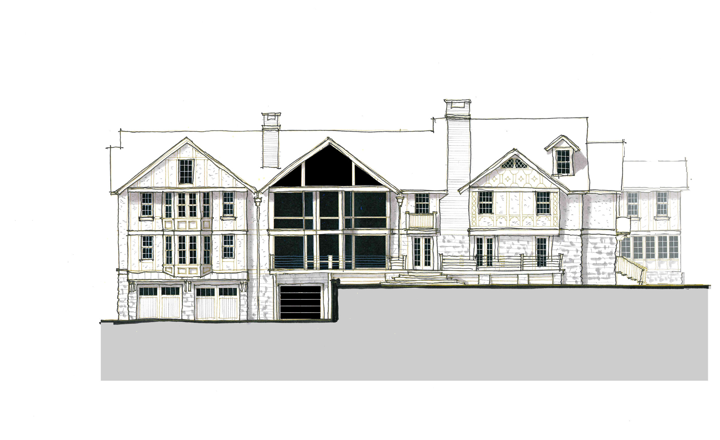 Option C —Rear Facade of a proposed addition
