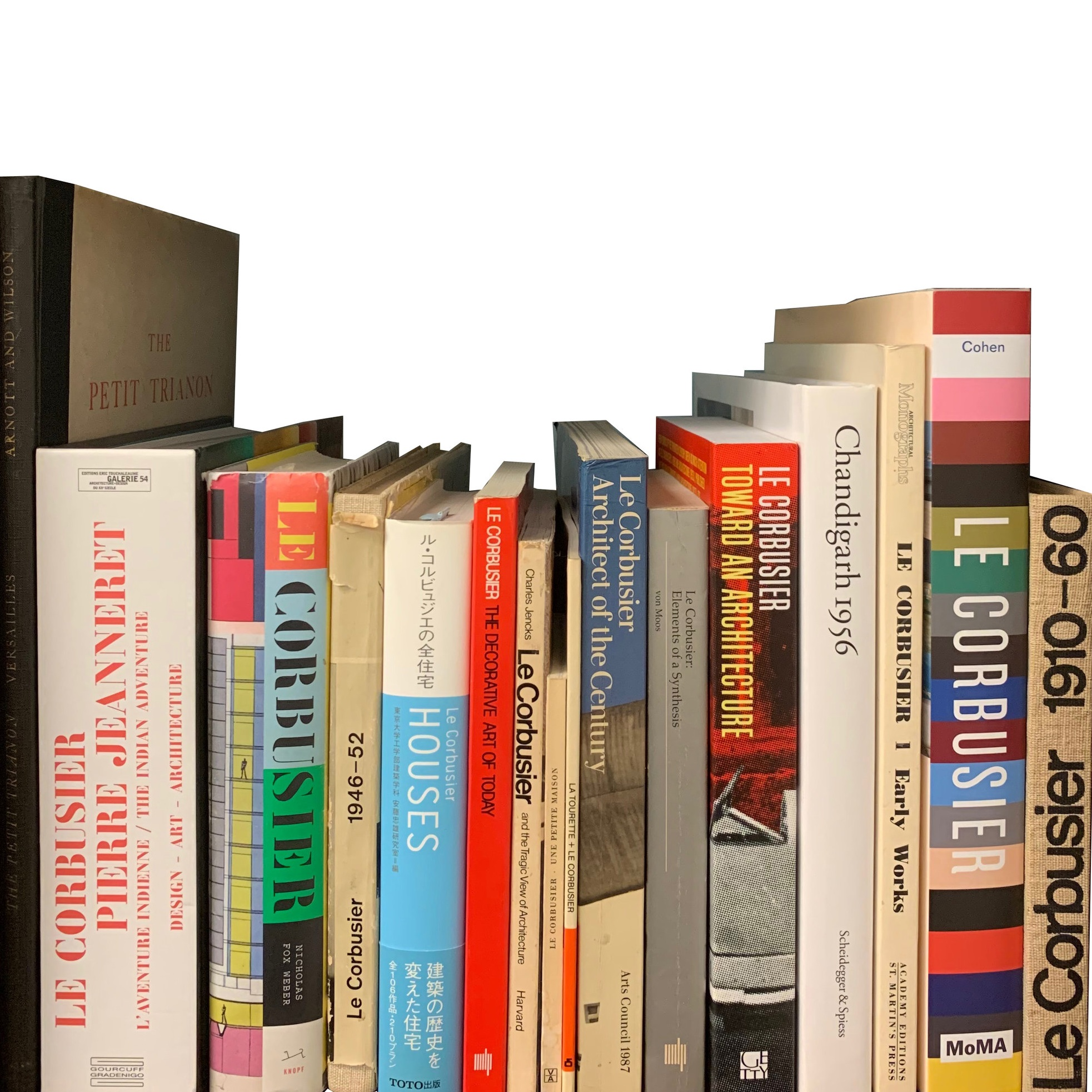 Corbusier….He has a shelf all to himself.