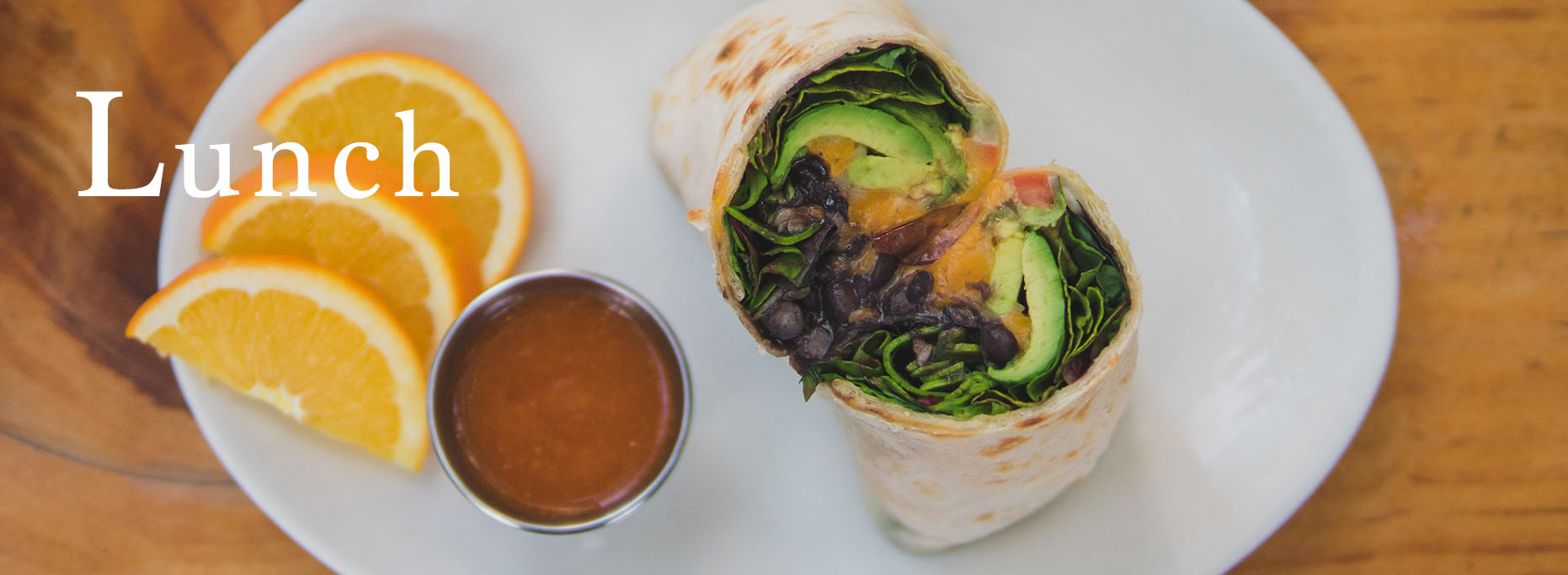 Pannikin La Jolla lunch vegetarian burrito