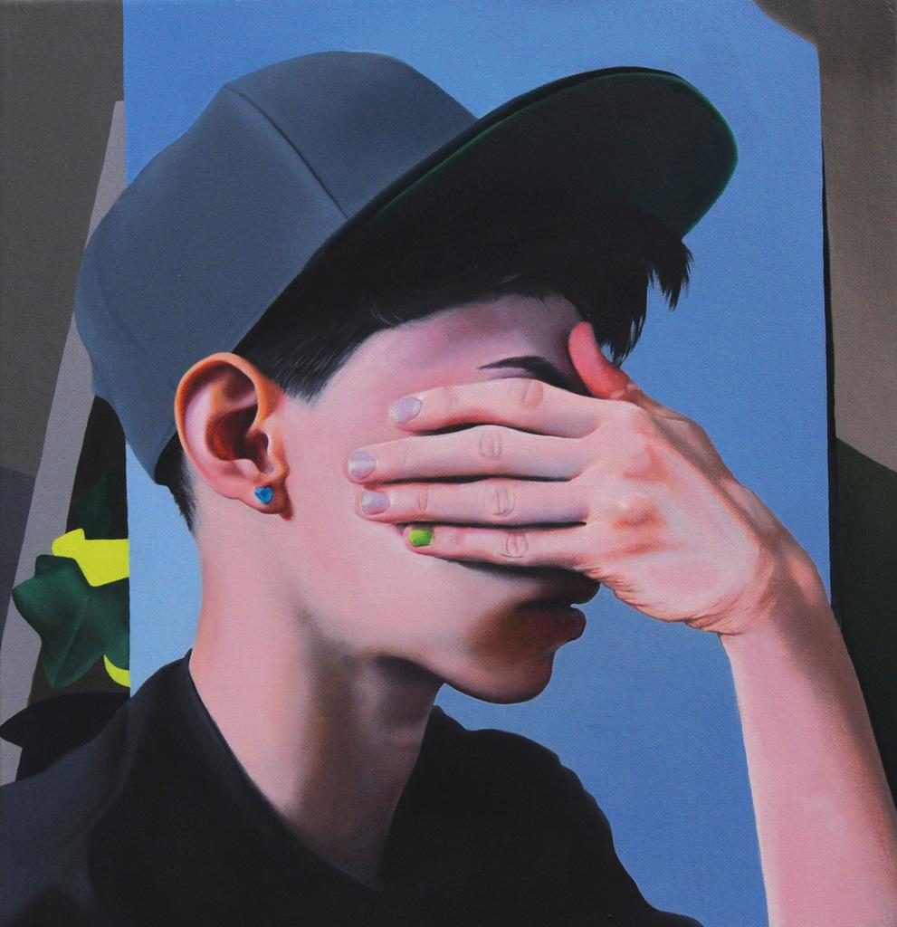 Hide / Seek,  oil on canvas, 2014