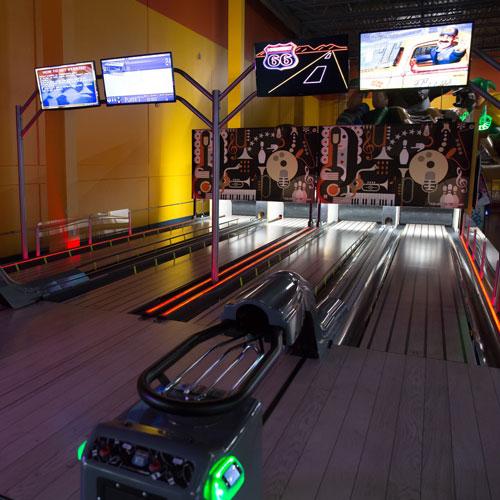 Razzmatazz Indoors Arcade Bar Chicago Bowling Alley