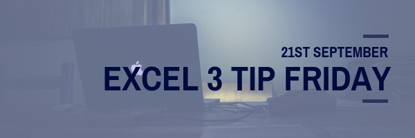 3 Tip Friday excel course
