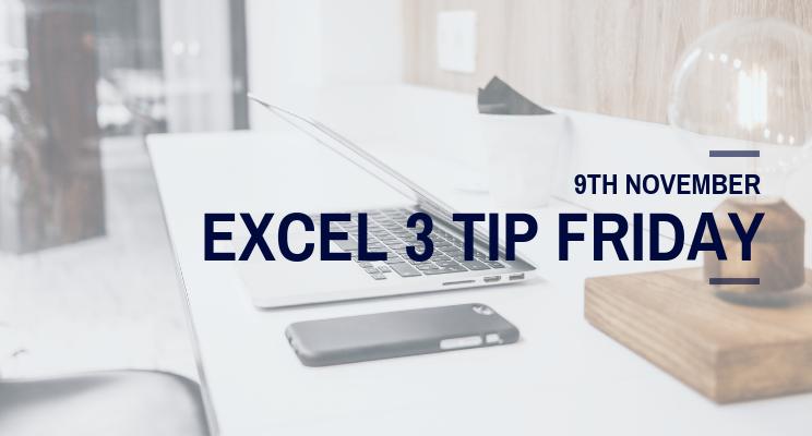 dataminded excel 3 tip friday
